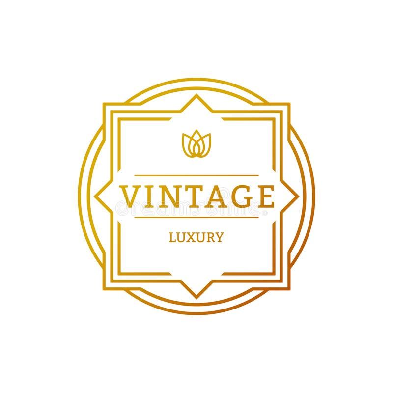 Retro Vintage Insignias or Logotypes. Vector design elements, business signs, logos, identity, labels, badges and objects. Retro Vintage Insignias or Logotypes royalty free illustration