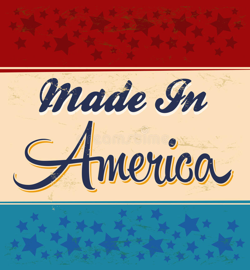 Retro - Vintage Made in America Sign royalty free illustration