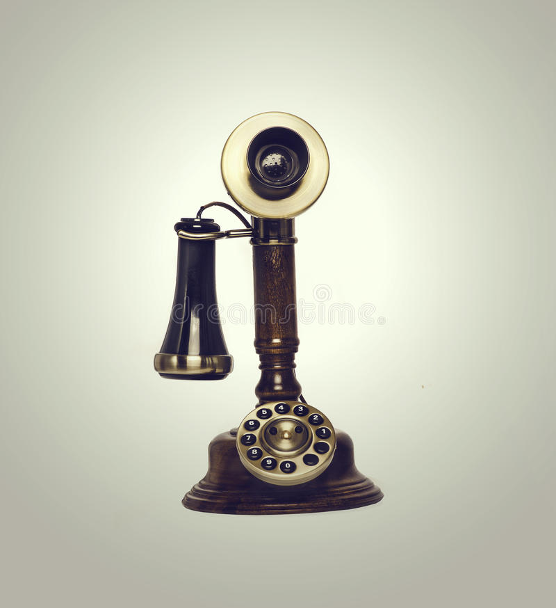 Retro vintage old phone stock images
