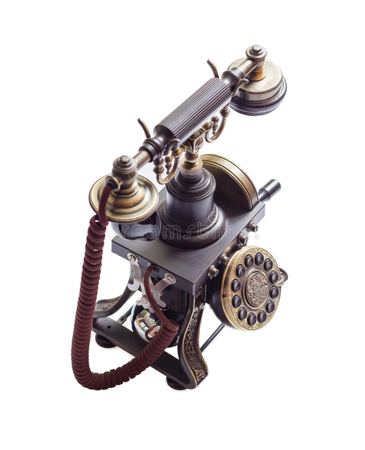Retro vintage phone isolated royalty free stock photography
