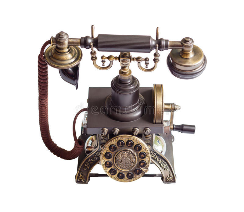 Retro vintage phone isolated royalty free stock images