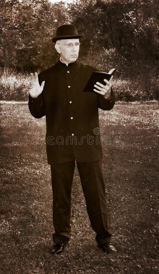 Retro Vintage Priest, Minister Photograph stock photography