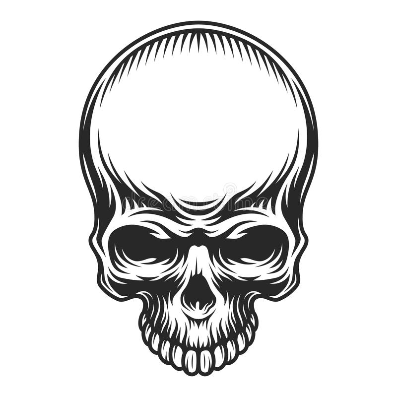 Vintage Skull In Cowboy Hat Stock Vector