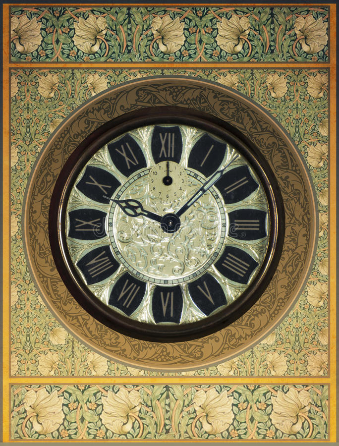 Retro Vintage Steampunk Clock Background. Retro vintage steampunk background with a clock or timepiece. What time is it? Lots of fine detail stock images