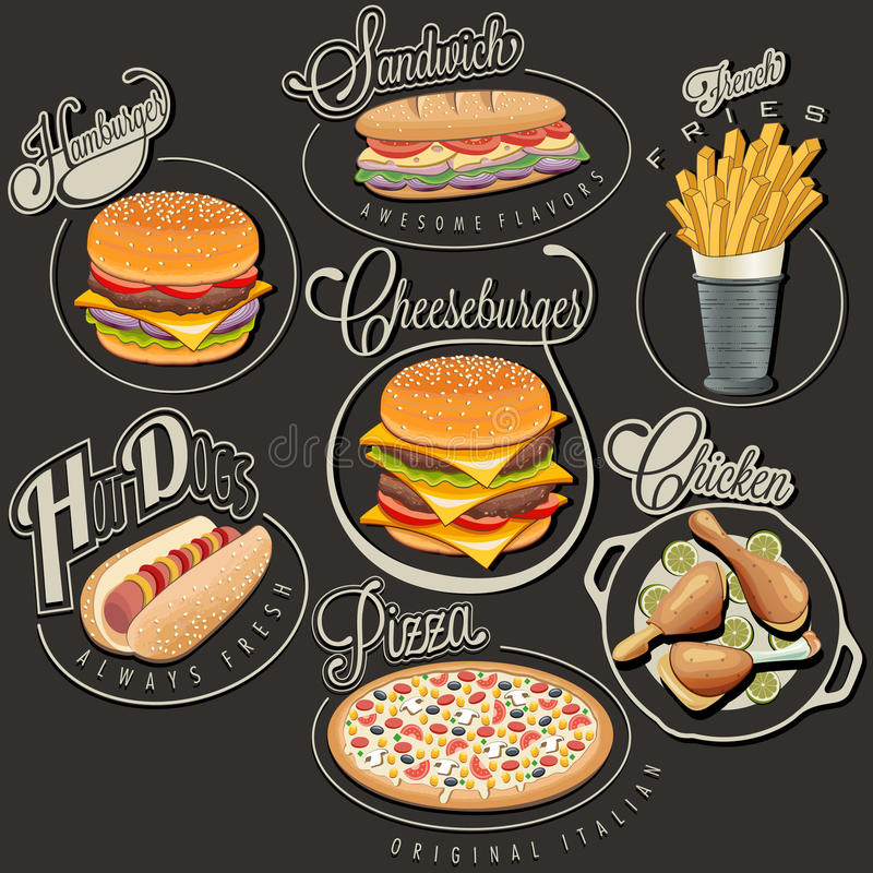 S Retro Foods Vector