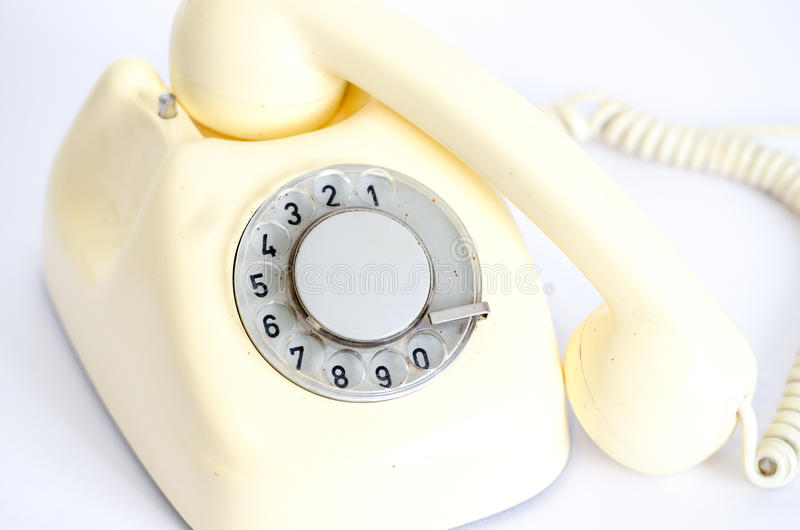 Download Retro vintage telephone stock image. Image of white, number - 32572633