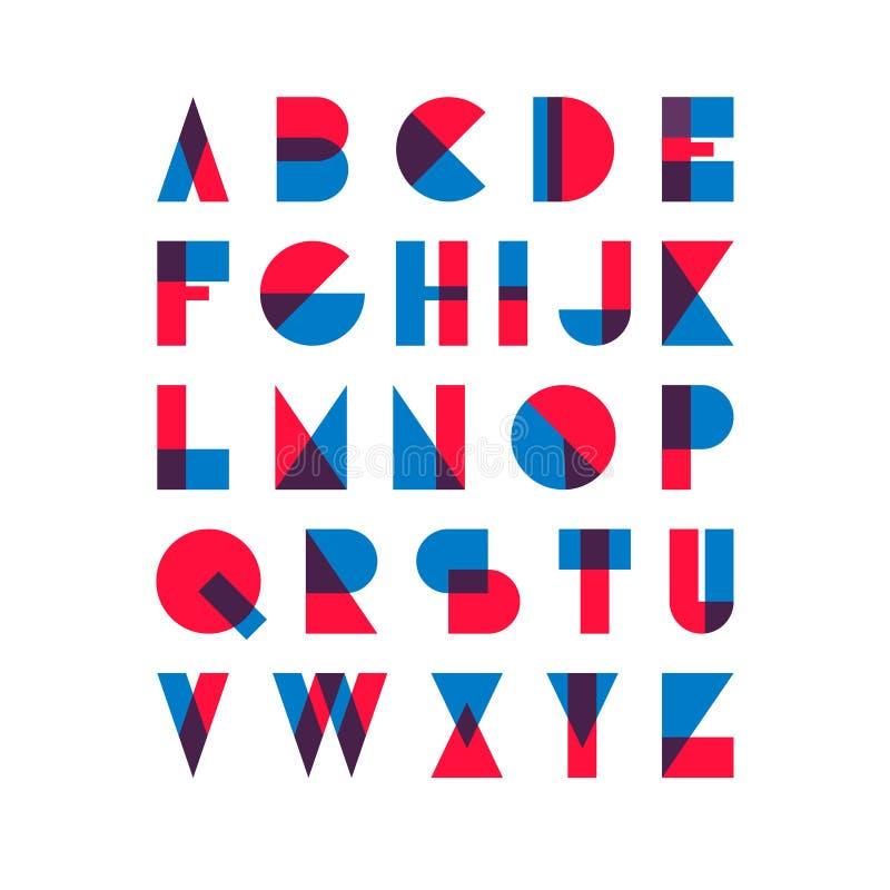 Retro vintage type font royalty free stock photo