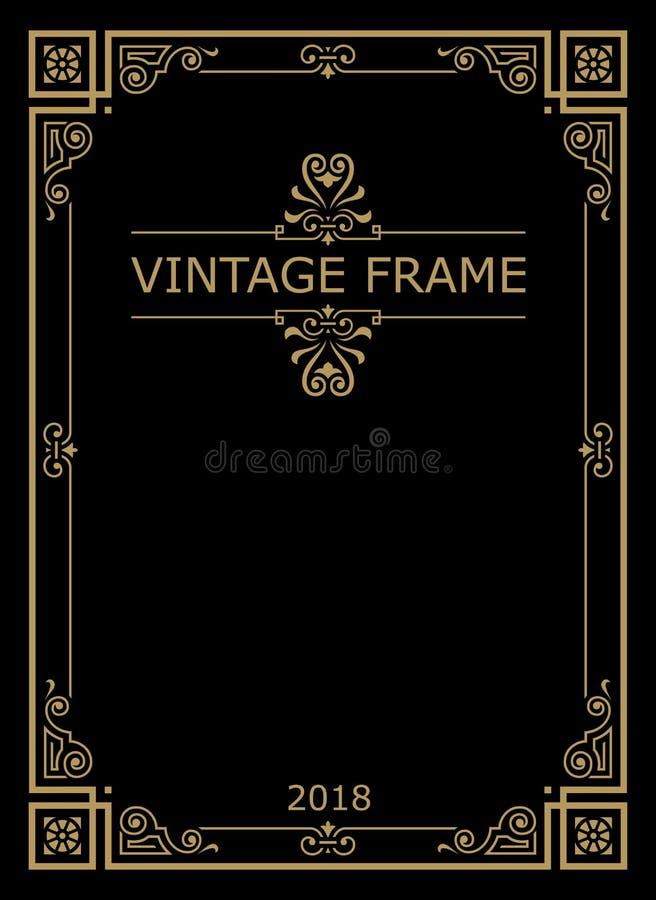 Retro vintage typographic design elements. stock illustration