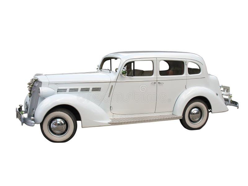 Download Retro Vintage White Dream Wedding Car Isolated Stock Image - Image: 11966061