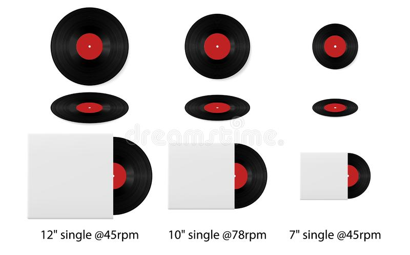Blank Record Album And Cover Stock Illustration