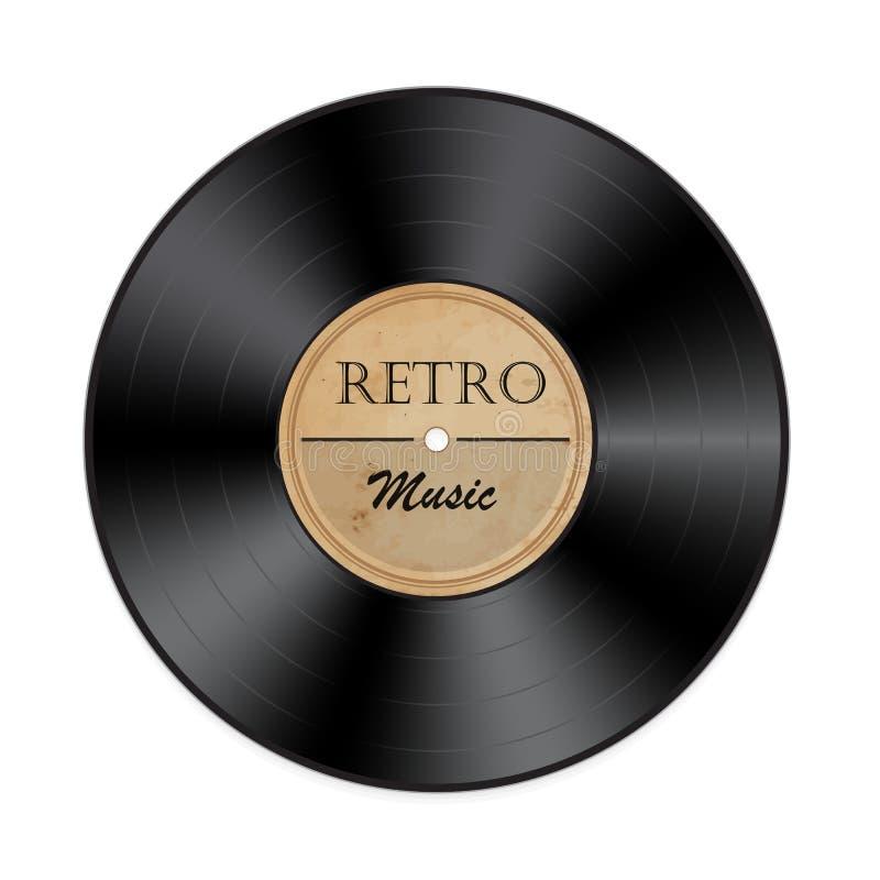 Retro vinyl record. On a white background.Vector illustration royalty free illustration