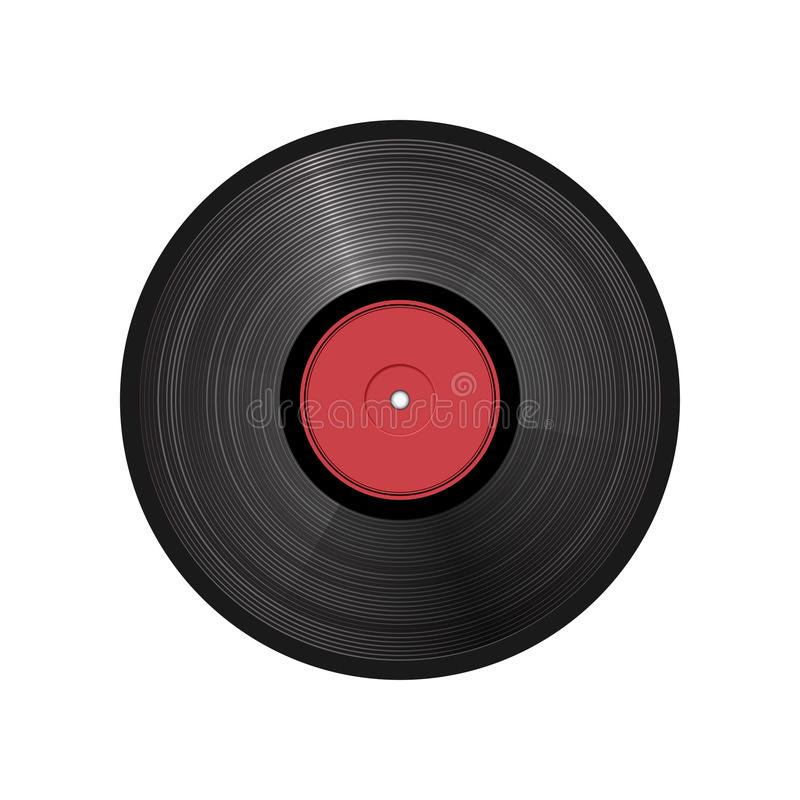 Retro vinyl record - vector illustration. This is file of EPS10 format royalty free illustration