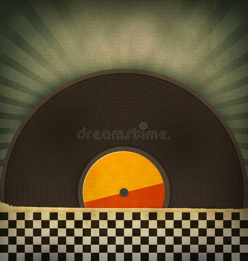 Retro- Vinylsätze lizenzfreie abbildung