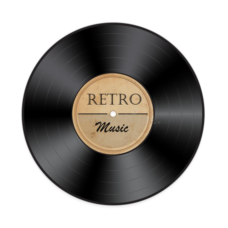 Retro vinylVerslag royalty-vrije illustratie