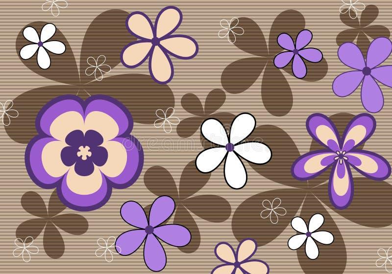 Retro Violet Floral Background Stock Photos