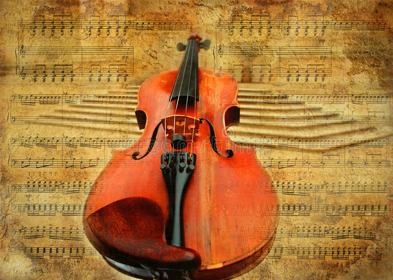 Retro- Violine stockbild