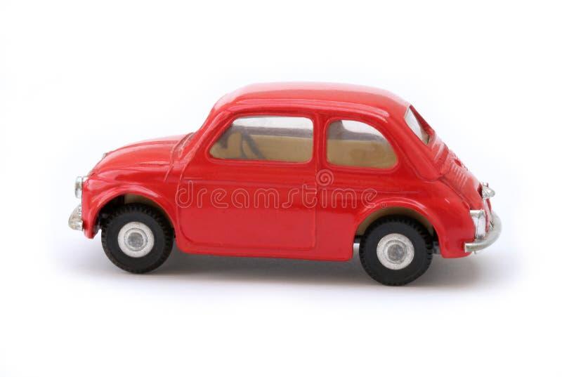 Retro- vorbildliches Miniauto stockbilder