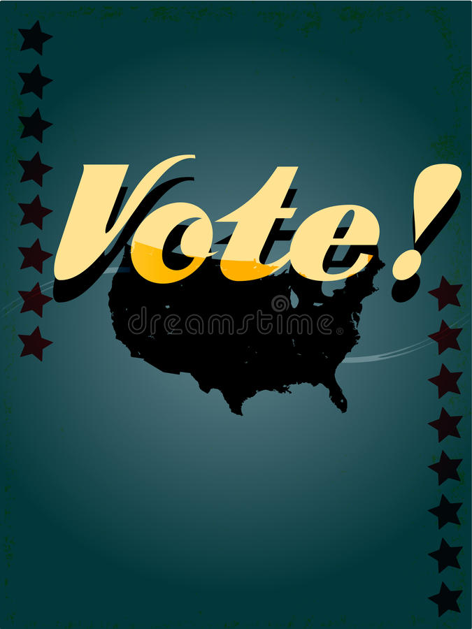 Retro voting poster