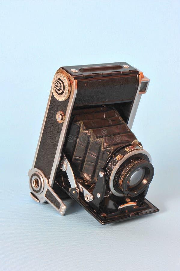 Retro vouwende camera royalty-vrije stock foto