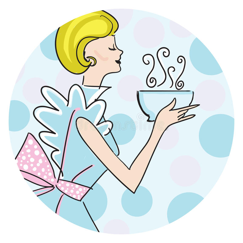 Retro vrouw vector illustratie