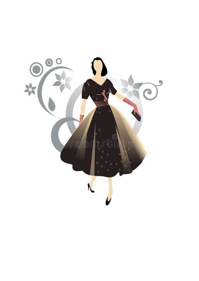 Retro vrouw royalty-vrije stock fotografie
