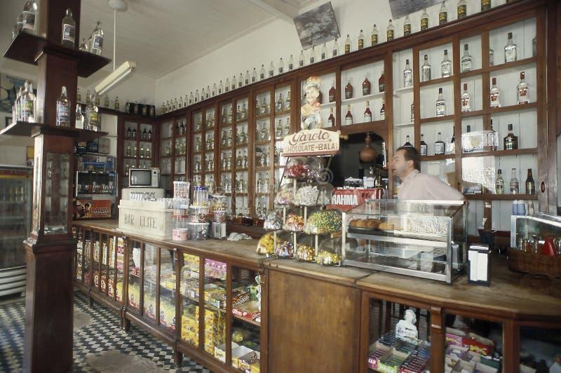 Retro włoszczyzna bar w Santa Teresa, stan Espirito Santo, Braz fotografia stock