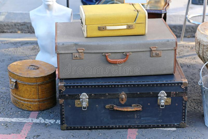 retro walizki fotografia stock