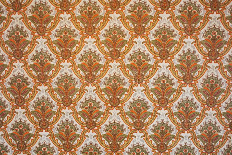 Retro wallpaper. In soft orange and brown tones royalty free stock photos