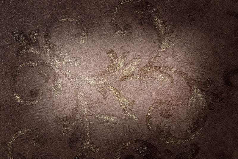 Retro Wallpaper. Brown and gold retro grunge wallpaper background royalty free stock photography