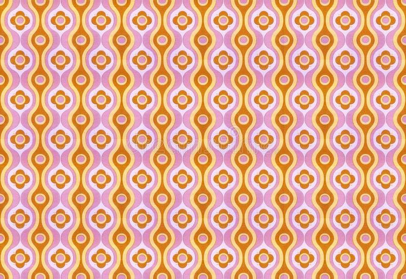 Retro wallpaper. Purple - brown vintage wallpaper pattern royalty free stock photo