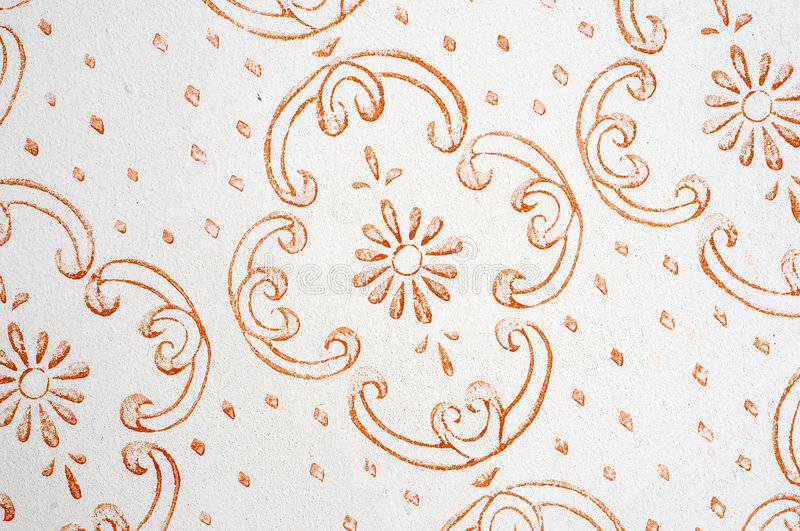 Retro wallpaper. Details on an old and retro wallpaper stock photography