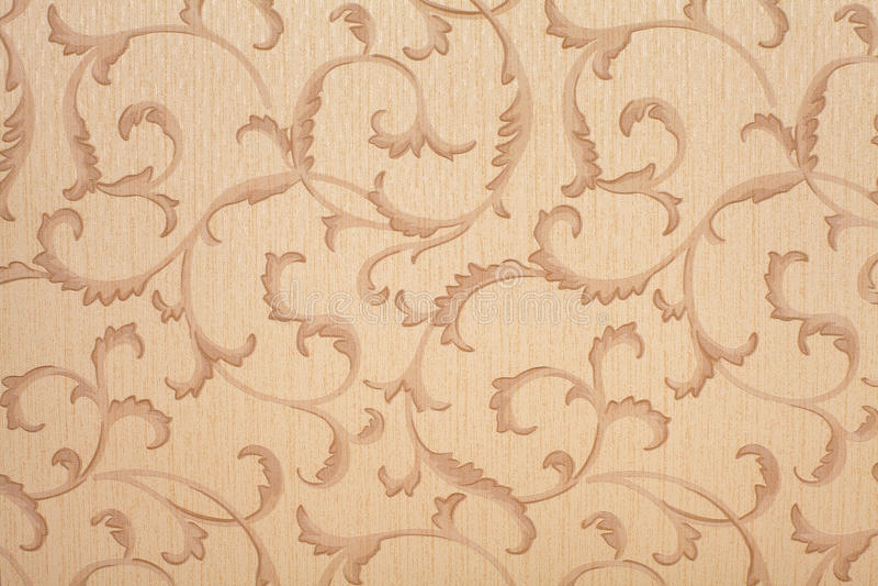 Retro wallpaper. Black and tan retro wallpaper seamless pattern stock image