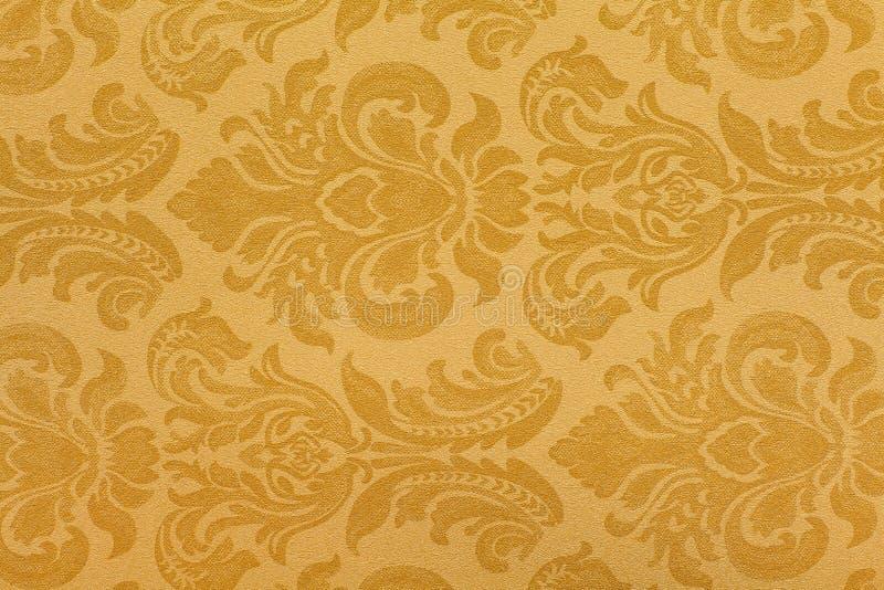 Retro wallpaper. Black and tan retro wallpaper seamless pattern stock photos