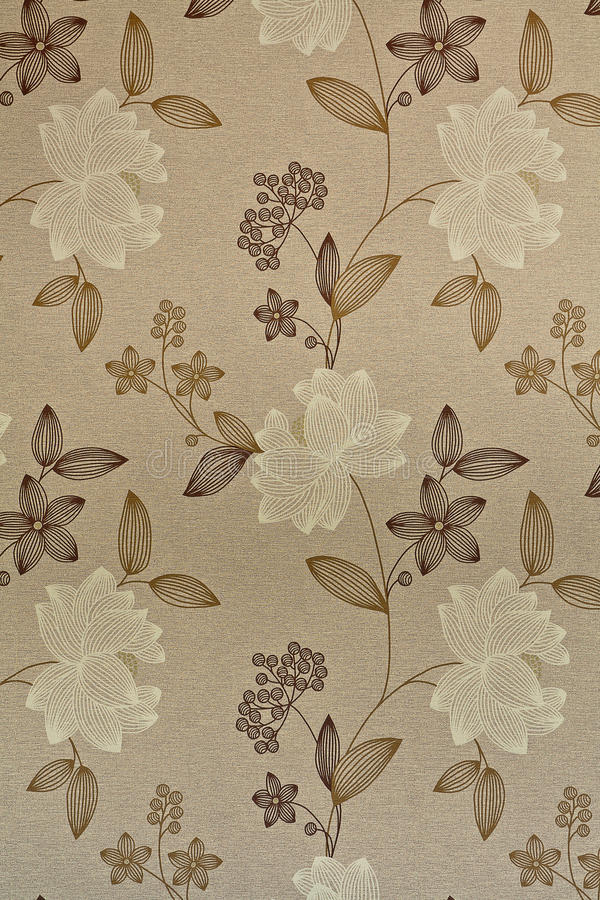 Retro wallpaper with flowers. Retro / vintage wallpaper or background royalty free stock image