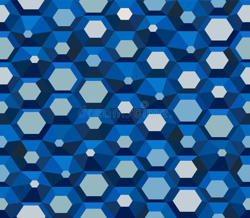Hexagonal Wallpaper - Vintage blue vector pattern royalty free illustration
