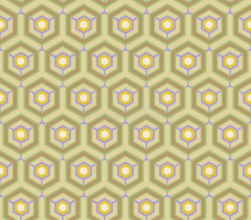 Retro wallpaper - Vintage vector pattern. Retro wallpaper - Vintage 2d vector digital generated pattern royalty free illustration