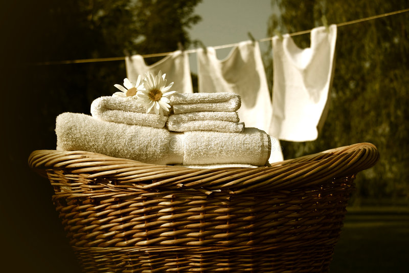 Retro wash day royalty free stock photography