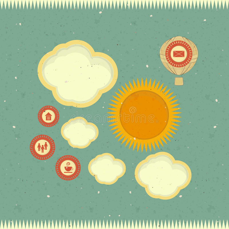 Download Retro web design stock vector. Image of background, communication - 26515412