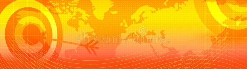 Retro web header / world map. Website header / banner. Technology, travel, world map, digitally generated illustration for web site headers royalty free illustration