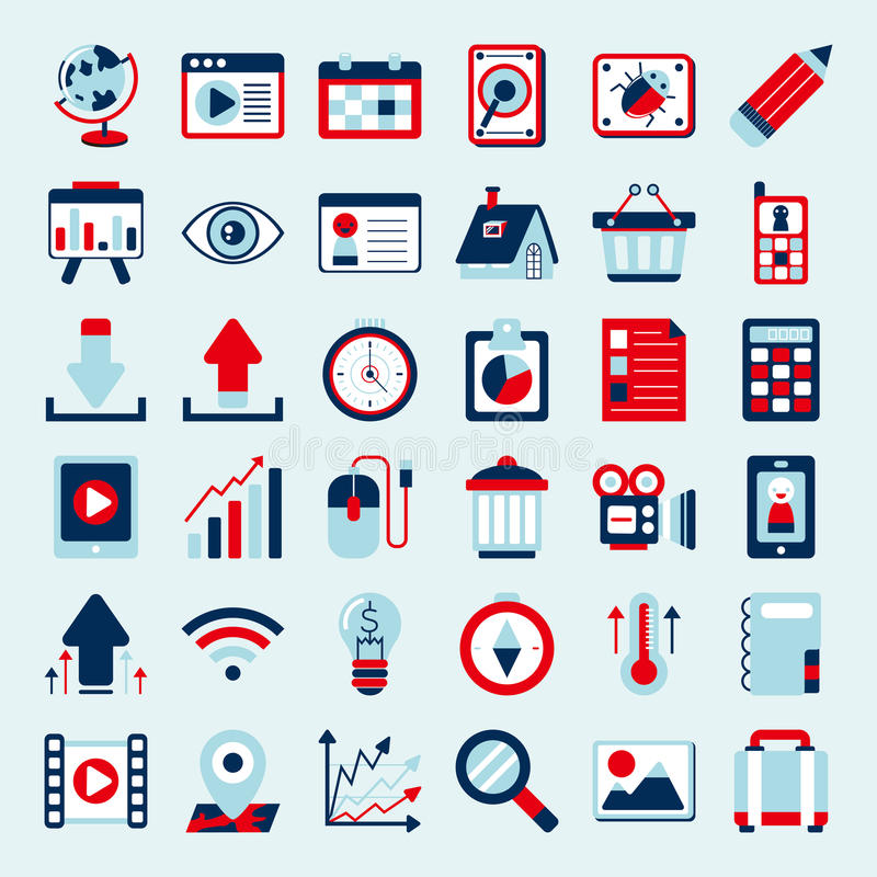 Download Retro web icon set stock vector. Image of decorate, connection - 35287854