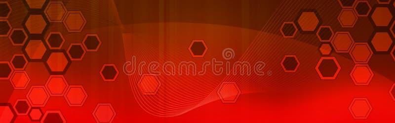 Retro- Web-Vorsatz/Fahne lizenzfreie abbildung