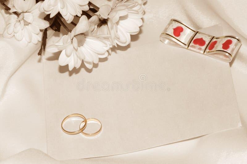 Retro wedding card. royalty free stock photography