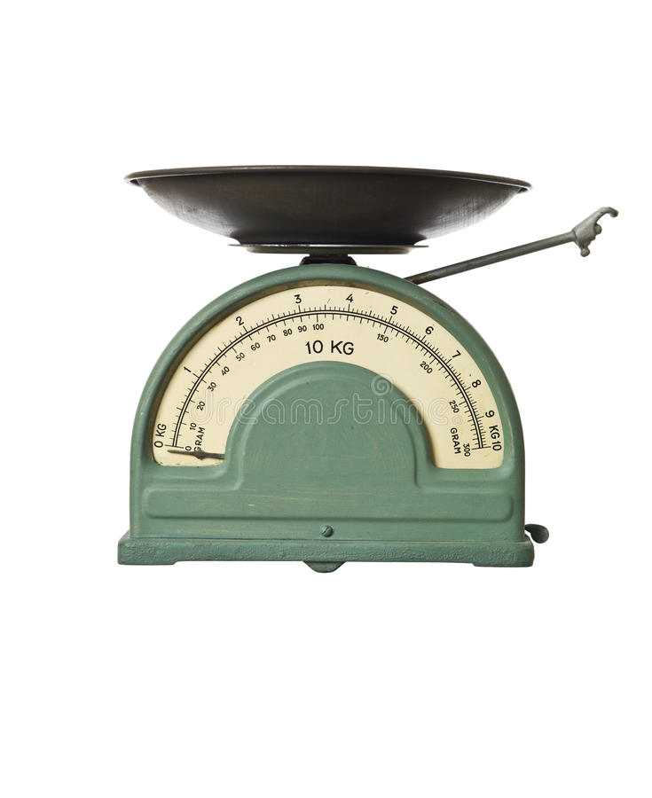 Retro weight scale stock image