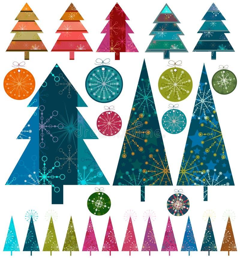 Retro- Weihnachten vektor abbildung