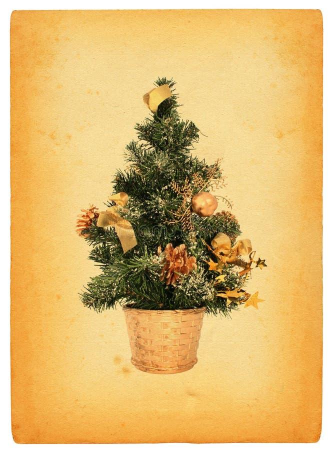 Retro- Weihnachtsbaum lizenzfreie stockfotos