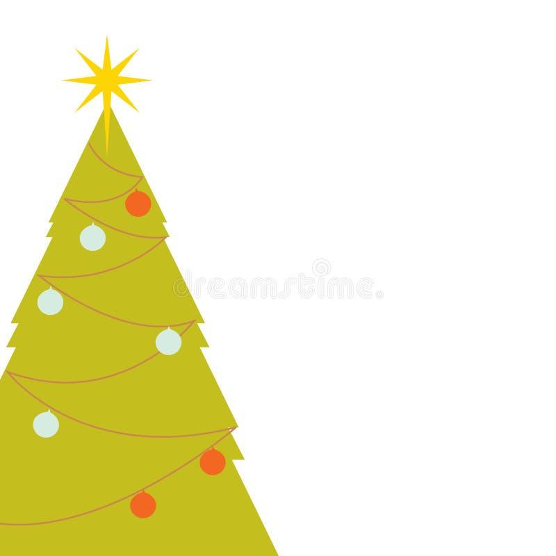 Retro- Weihnachtsbaum lizenzfreie abbildung