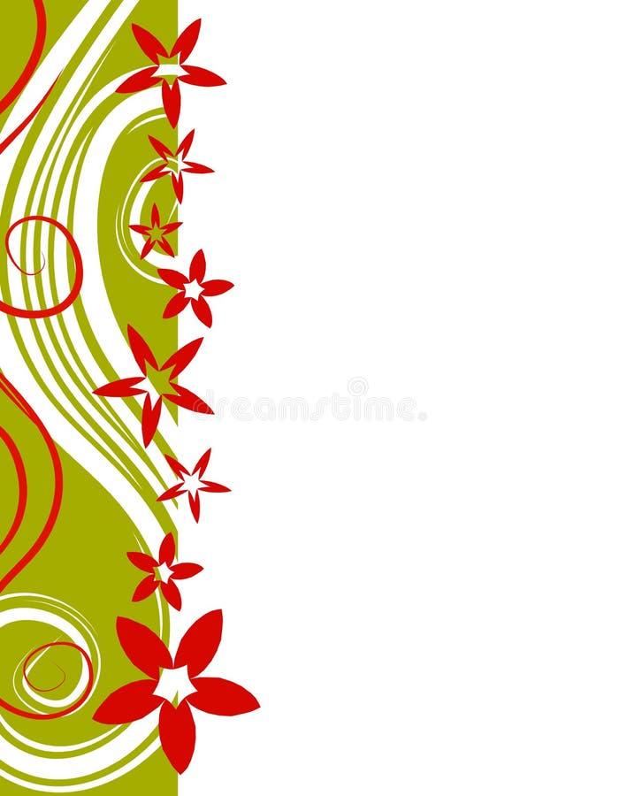 Retro- Weihnachtsblumen-Rand vektor abbildung