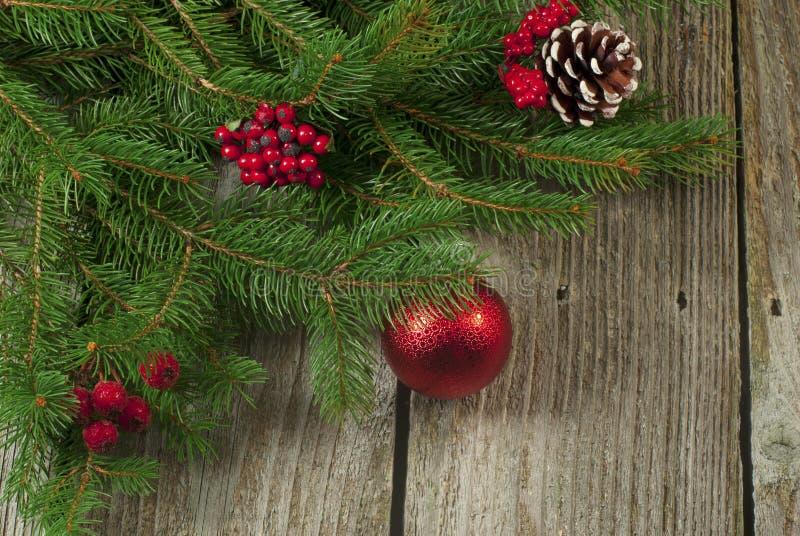 Retro- Weihnachtsdekorationen stockbilder