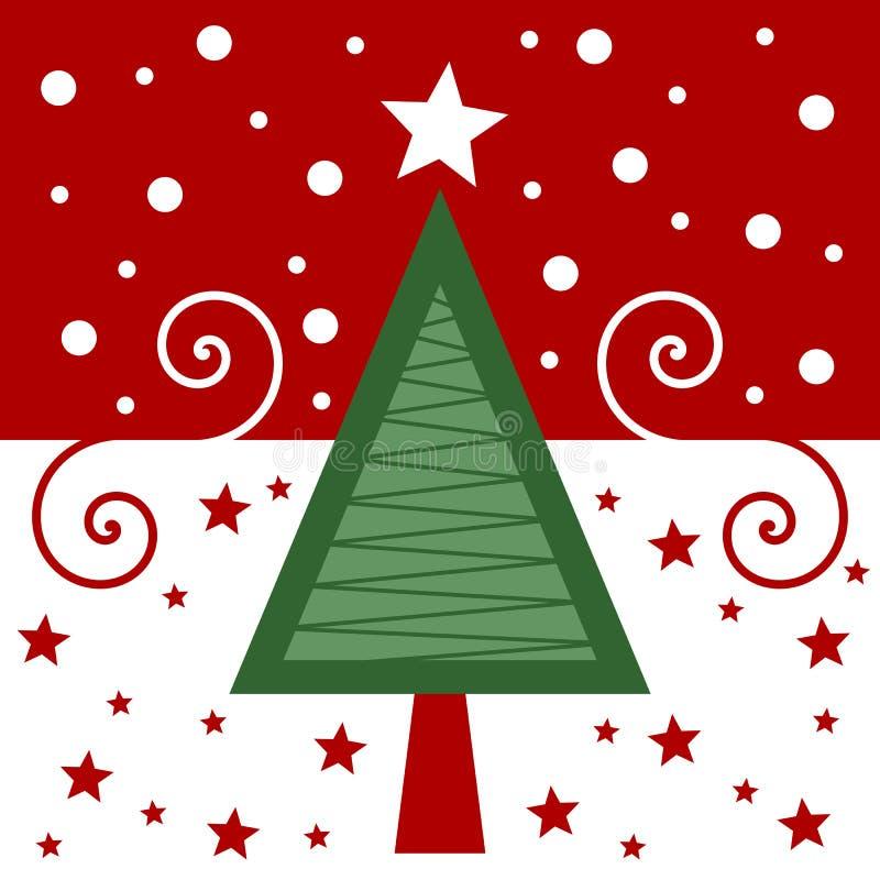 Retro- Weihnachtskarte [rot] vektor abbildung