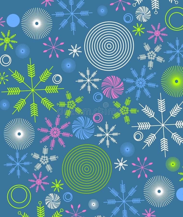 Retro- Weihnachtspapier-Verpackung 2 lizenzfreie abbildung